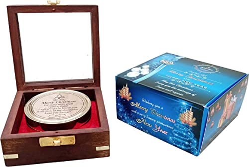 Warrior Armory Luxury Sundial Compass Wooden Box New Year Gifts Special Greeting