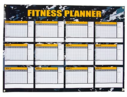 Amazon Com Dry Erase Weekly Planner 12 Weeks Fitness Planner For