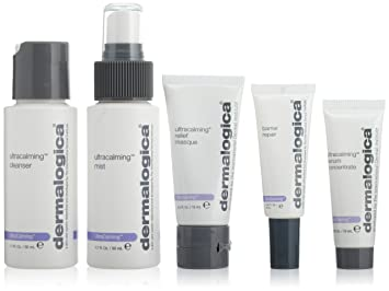 Dermalogica Ultracalming Skin Treatment Kit-5 Piece Face Contour - # 02 Dark by Burberry for Women - 0.05 oz Highlighter
