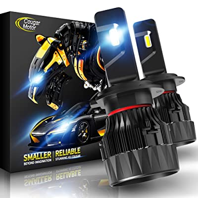 Cougar Motor X-Small H7 LED Headlight Bulb, 10000Lm 6500K All-in-One Conversion Kit - Cool White CREE: Automotive