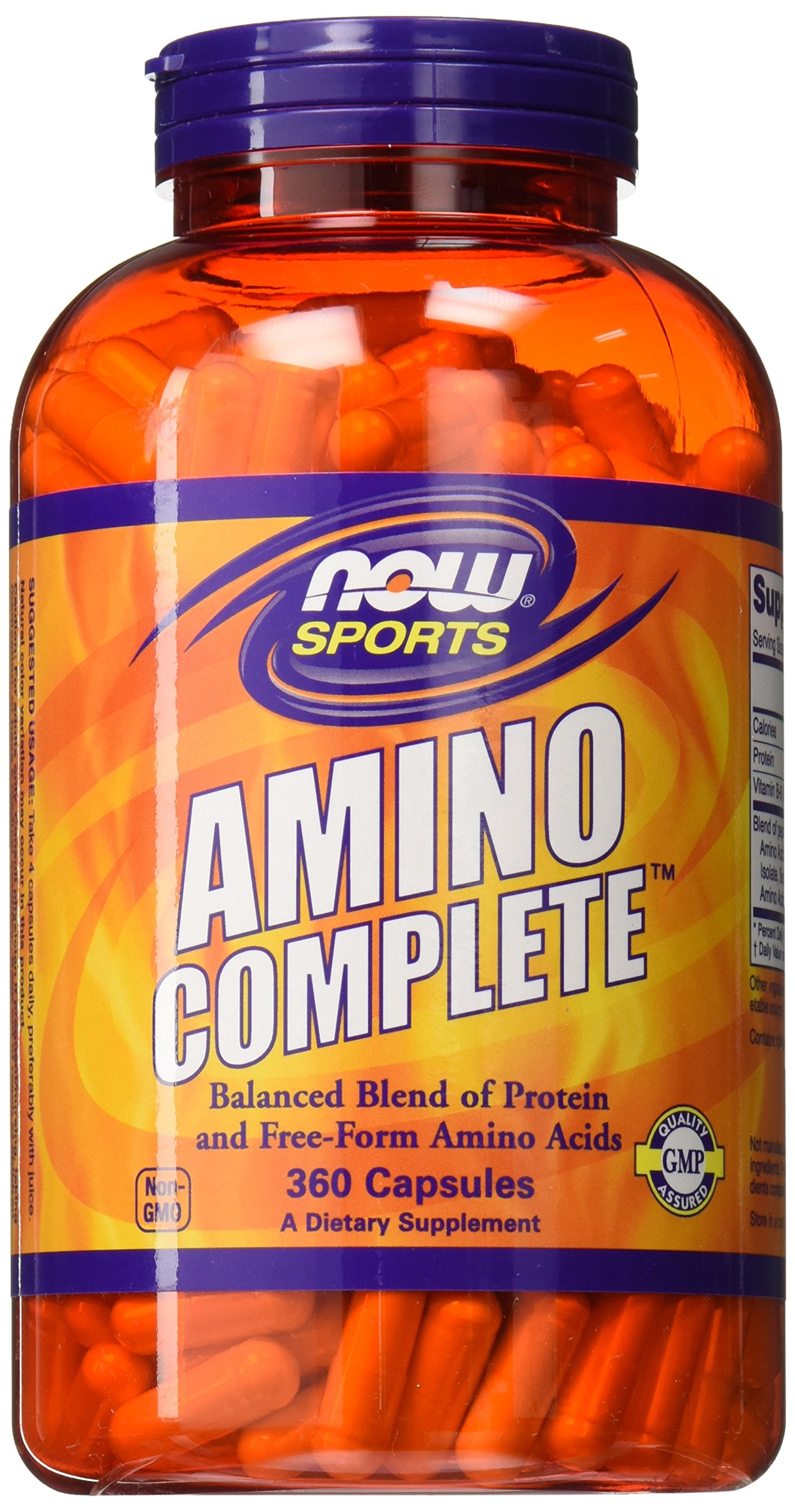 NOW Sports Amino Complete,360 Capsules