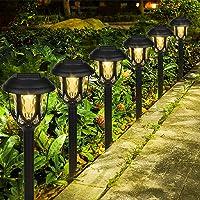 Lámpara Solar para Jardín, 6 piezas Luces Solares para Jardín, Luz Exterior Impermeable, Jardin Solares Exterior Luces…