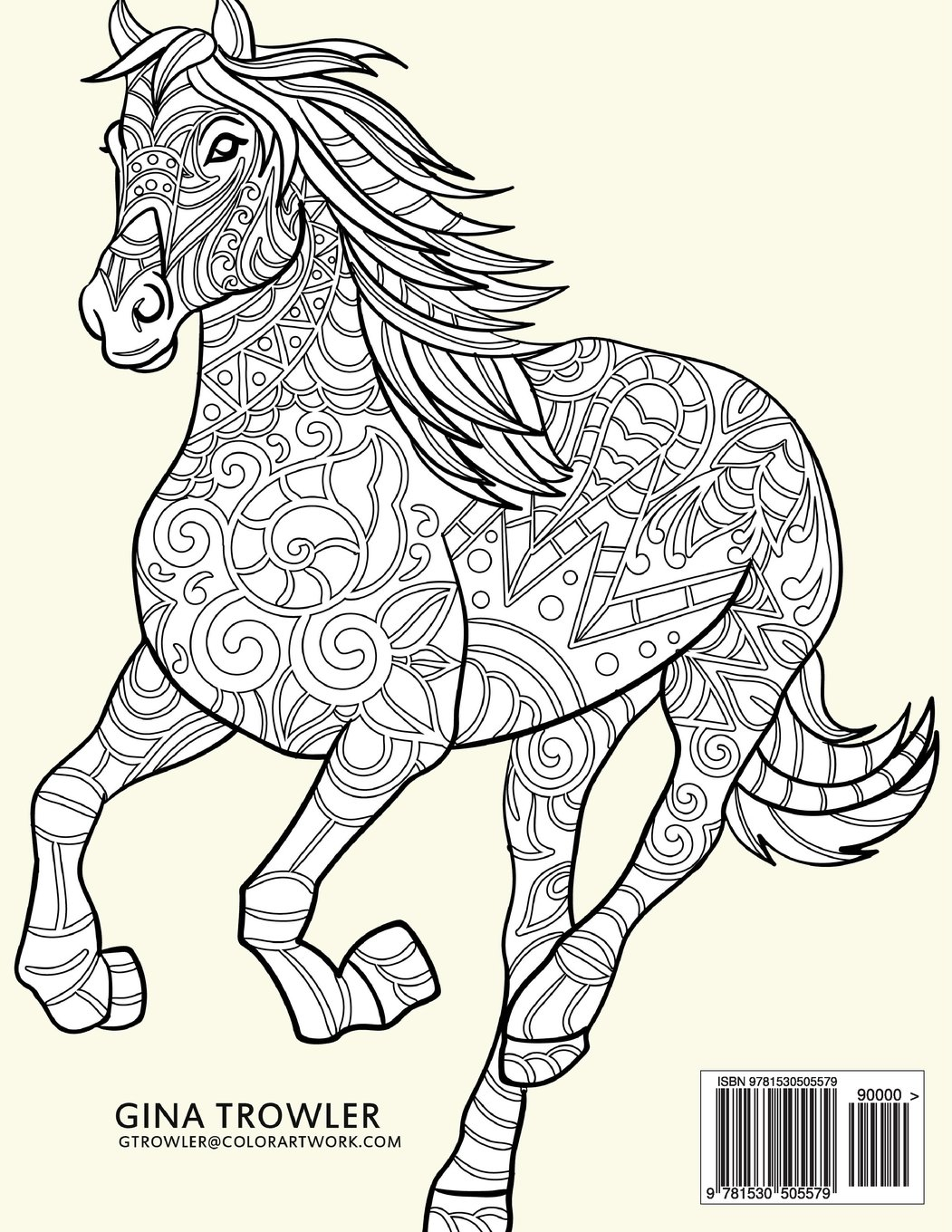 Amazoncom Horse Coloring Book Coloring Stress Relief Patterns for