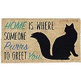 """DII Indoor/Outdoor Natural Coir Easy Clean Rubber Back Entry Way Doormat For Patio, Front Door, All Weather Exterior Doors, 18 x 30"""" - Home Cat"""