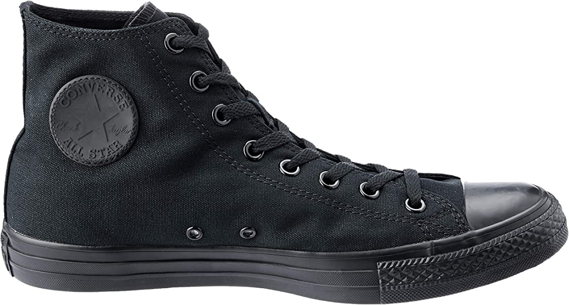 496776e5cd207 Converse Unisex Chuck Taylor All Star Hi Top Mono Black Sneaker - 7 ...