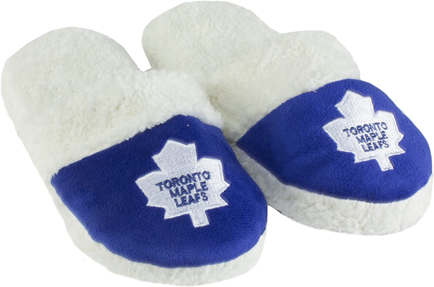 Forever Collectibles NHL Womens Sherpa Slide Slippers