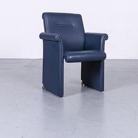 Poltrona Frau Forum Bridge Leder Sessel Blau Echtleder Stuhl ...