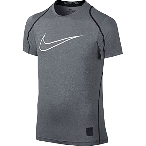 Nike Pro Cool Fitted Boys' Shirt - Black/Anthracite/White : T94h9281