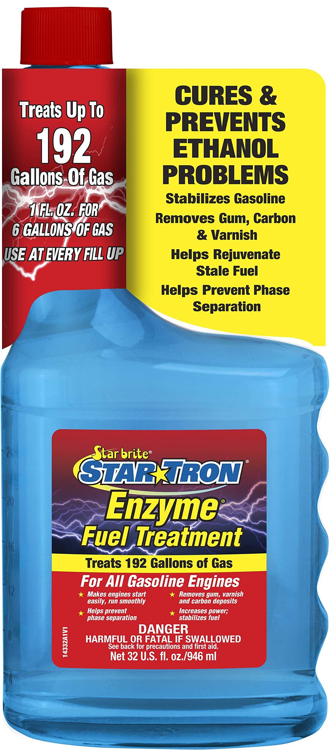 Star brite 14332 Star Tron Enzyme Fuel Treatment - Classic Gas Formula 143-32 Oz. Treats 192 Gallon,