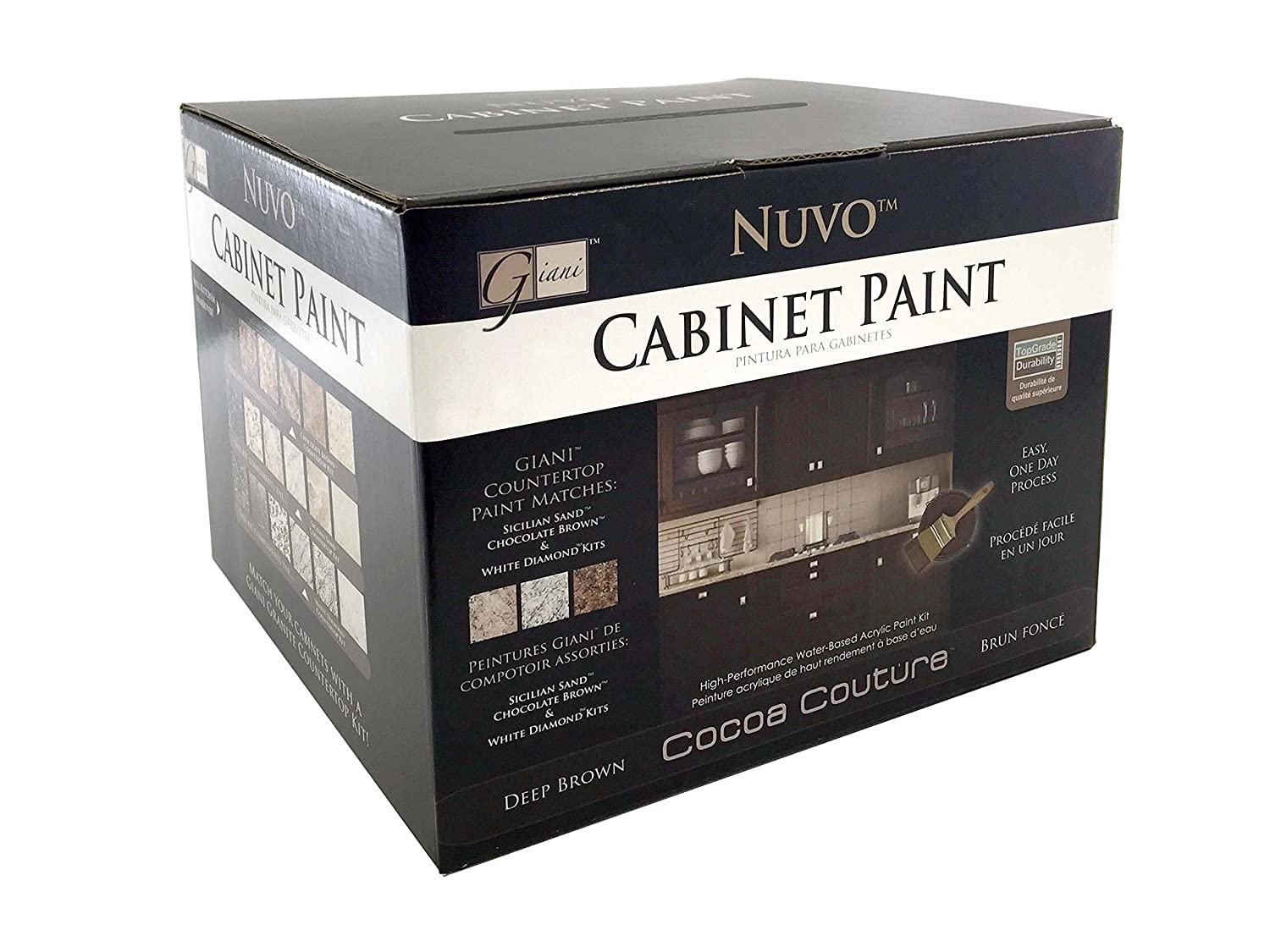 Nuvo Cabinet Paint Reviews Amazoncom Nuvo Cocoa Couture Cabinet Paint Kit Home Improvement