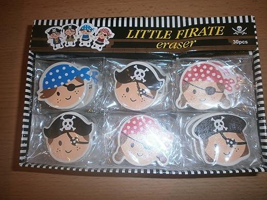 60 goma de borrar pirata - obsequios Fiesta Cumpleaños ...