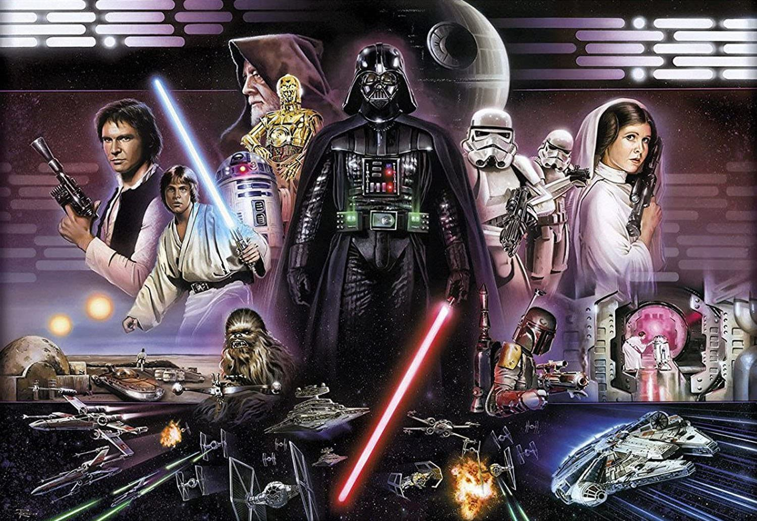 Wall Mural Photo Wallpaper Star Wars Darth Vader Collage 12 1 X 8 4 The Dark Heroes In One Picture Wall Stickers Murals Amazon Canada