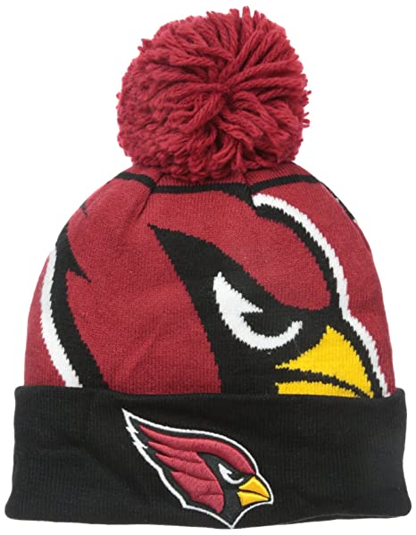 62060094561 Amazon.com   NFL Arizona Cardinals New Era Logo Whiz Pom Beanie