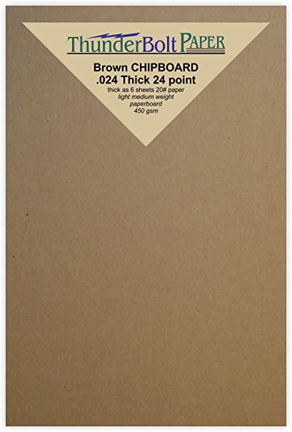 amazon com 100 sheets chipboard 24pt point 4 x 6 inches light