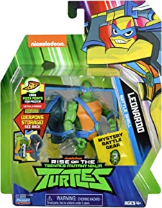 Rise of the Teenage Mutant Ninja Turtles Battle Shell Leonardo Action Figure