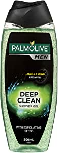Palmolive Men Deep Clean Soap free Body Wash with Exfoliating Seeds 500mL