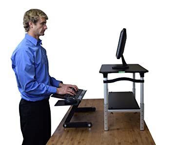 LIFT Standing Desk Conversion Kit   Tall, Affordable, Ergonomic Adjustable  Height Monitor Stand +