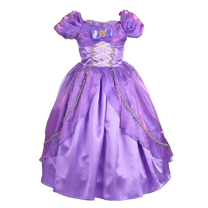 Amazon.com: Dressy Daisy Girls\' Princess Rapunzel Dress Up Halloween ...