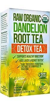 Kiss Me Organics dandelion root detox tea