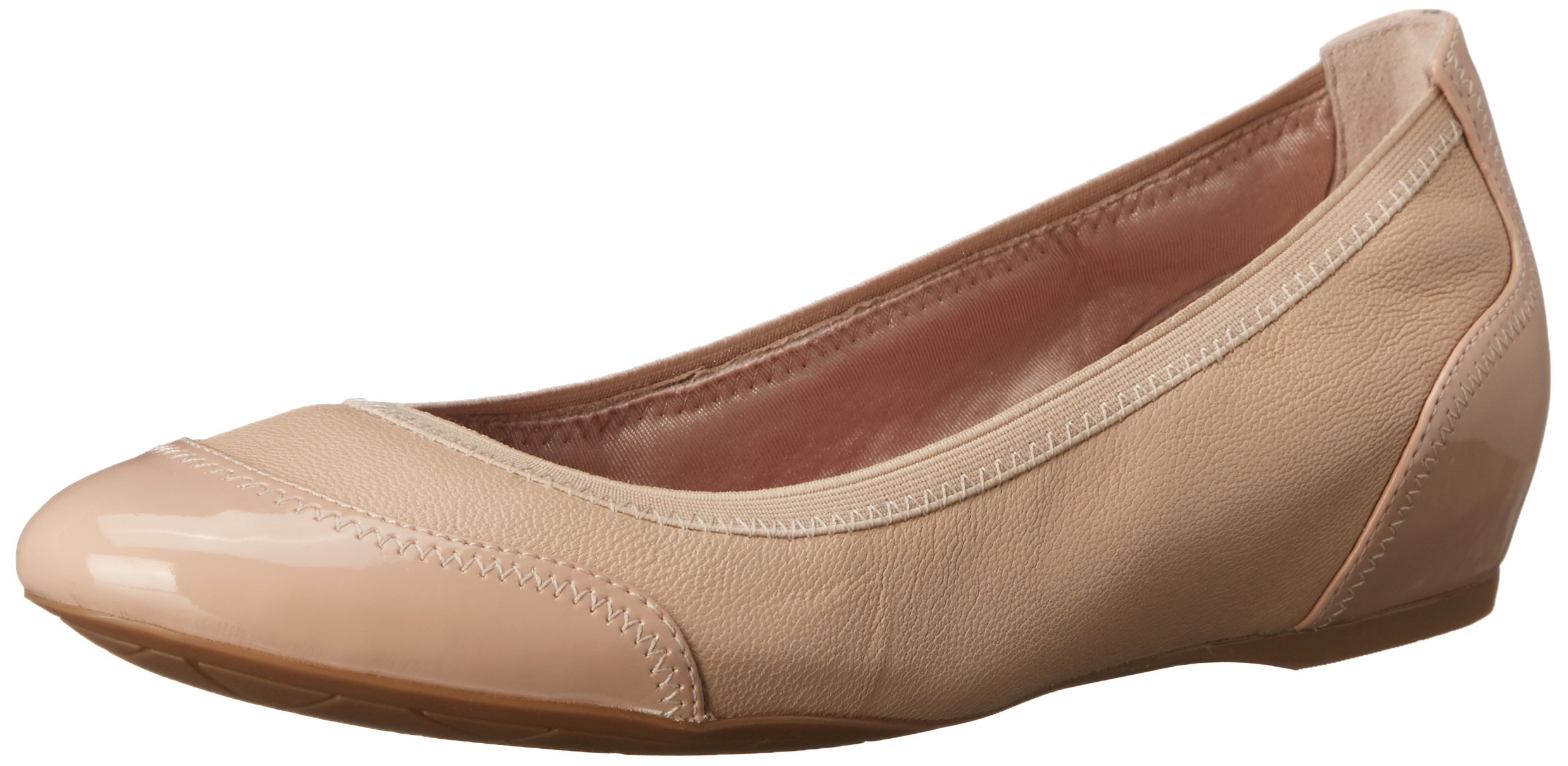 Rockport Women's Total Motion Crescent Ballet Summer Nude Pearl 5 M