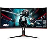 "AOC CU34G2X/BK - Monitor Curvo de 34"" WQHD (Resolución 3440 x 1440, 1 ms, 144 Hz, VA, FreeSync, VESA, HDMI, Displayport…"