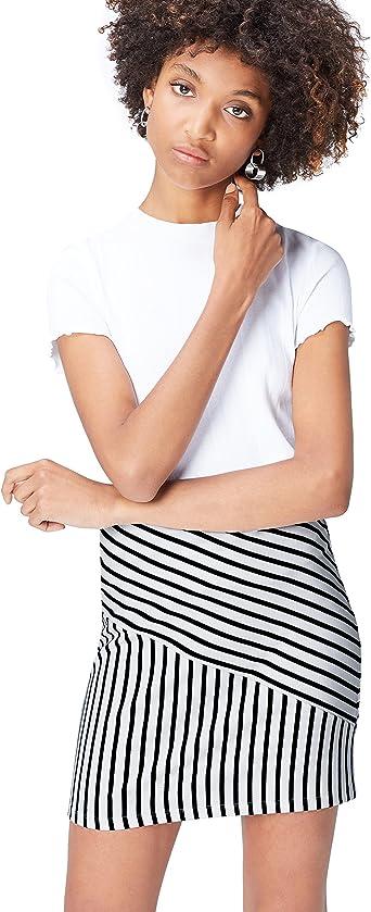 Marca Amazon - find. Falda Mini de Rayas para Mujer: Amazon.es ...