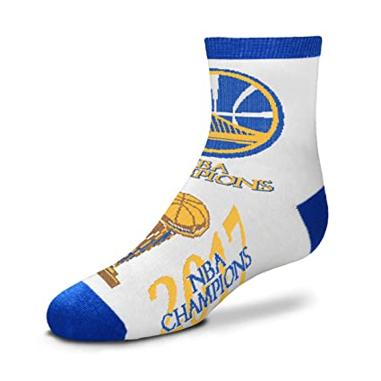 Image Unavailable. Image not available for. Color  For Bare Feet Golden  State Warriors 2017 NBA Champions Youth Size Quarter Socks (Approx. 62c6d4c54