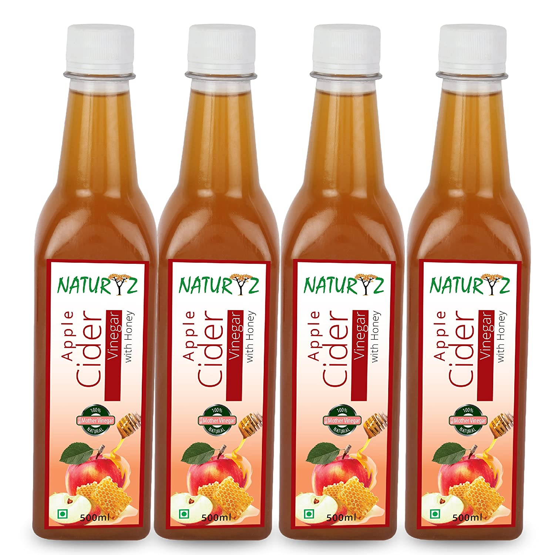 Naturyz Apple Cider Vinegar with Honey (500-ml) - Pack of 4