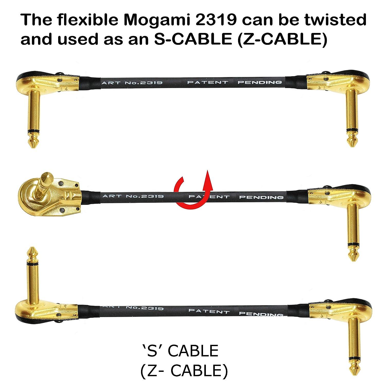 Embouts plaqu/és or de qualit/é sup/érieure Lot de 6 c/âbles de 15 cm de long Connecteurs de type TS de 6,35 mm Pour guitare basse