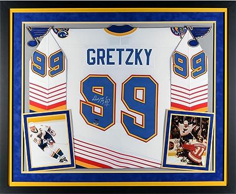 Wayne Gretzky St. Louis Blues Deluxe Framed Autographed White CCM Jersey - Upper  Deck - ee1552001