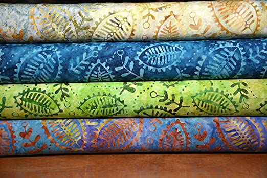 Paquete de retales de 100% algodón Indonesia Bali Batik tela 4 x ...