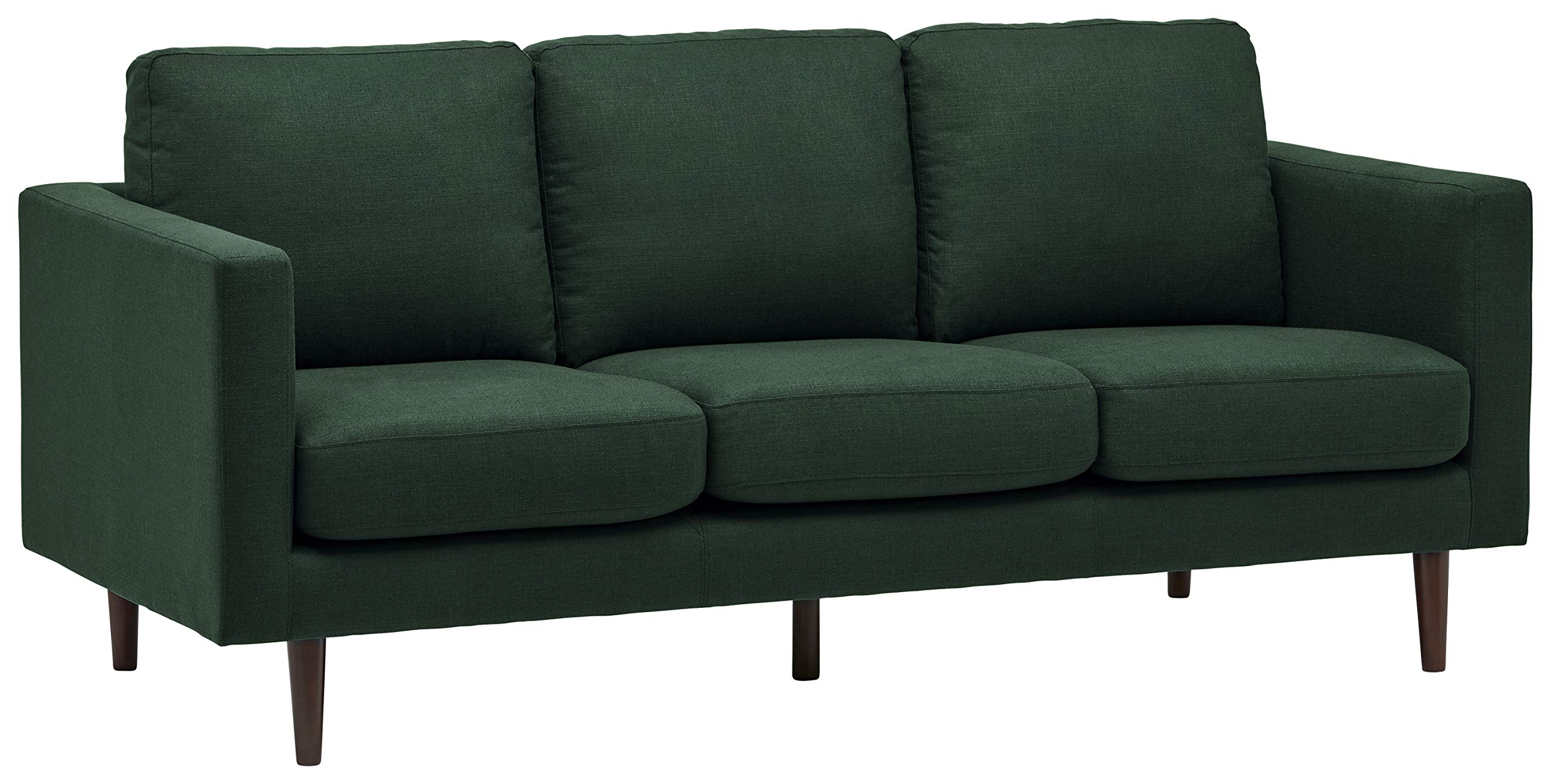 Rivet Revolve Modern Upholstered Sofa with Tapered Legs, 79.9''W, Heritage Green by Rivet