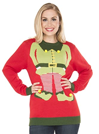 amazoncom rubies red elf ugly christmas sweater clothing - Ugly Christmas Sweater Elf