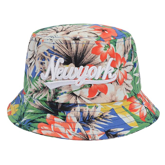 e8ac0dbd0b1a7 Hatphile New York Jungle Tropical Floral Bucket Hat Large Multicolored at  Amazon Men s Clothing store