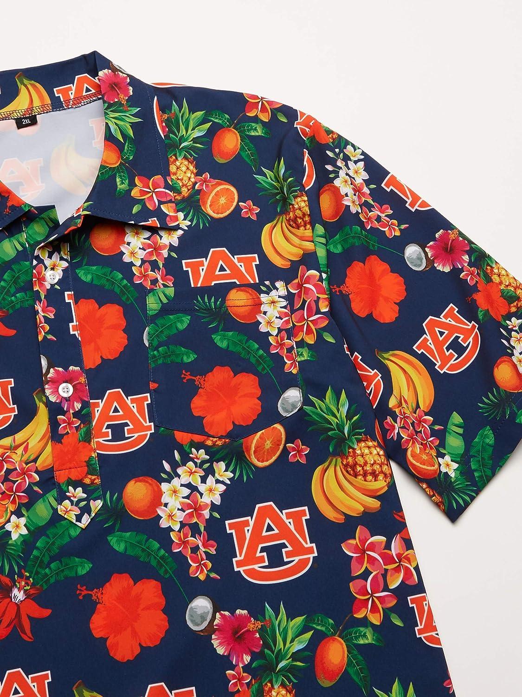 Team Color NCAA Auburn Tigers Mens Fruit Flair Tropical Short Sleeve Polo ShirtFruit Flair Short Sleeve Polo Shirt XXL