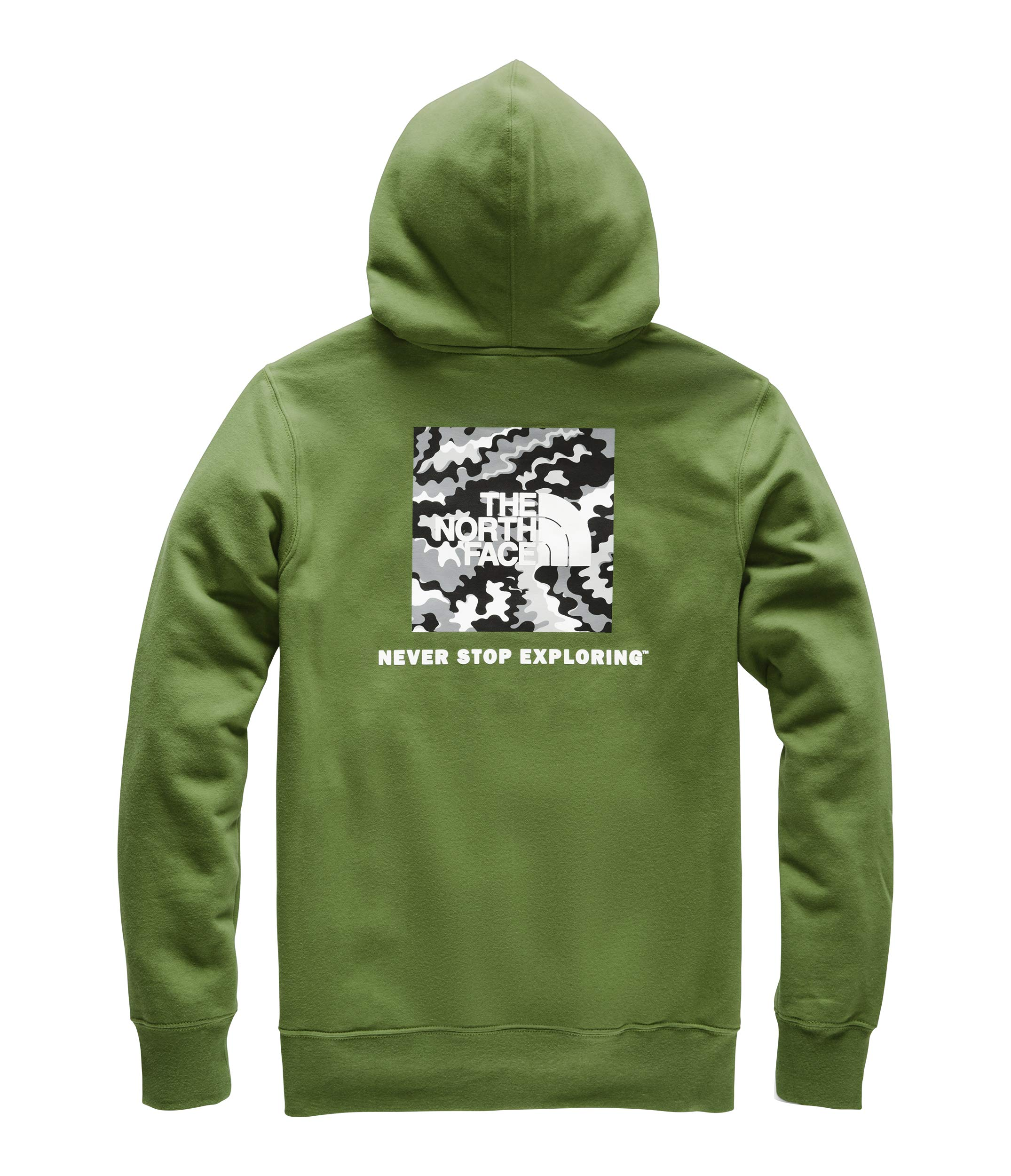 The North Face Men's Red Box Pullover Hoodie, Garden Green/TNF Black Psychedelic Print, Small by The North Face