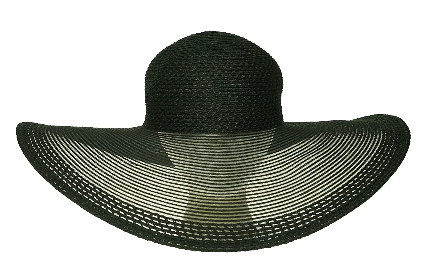 5b27374900a Nine West Women s Open Work Sheer Super Floppy Packable Hat Black One Size   Amazon.ca  Clothing   Accessories