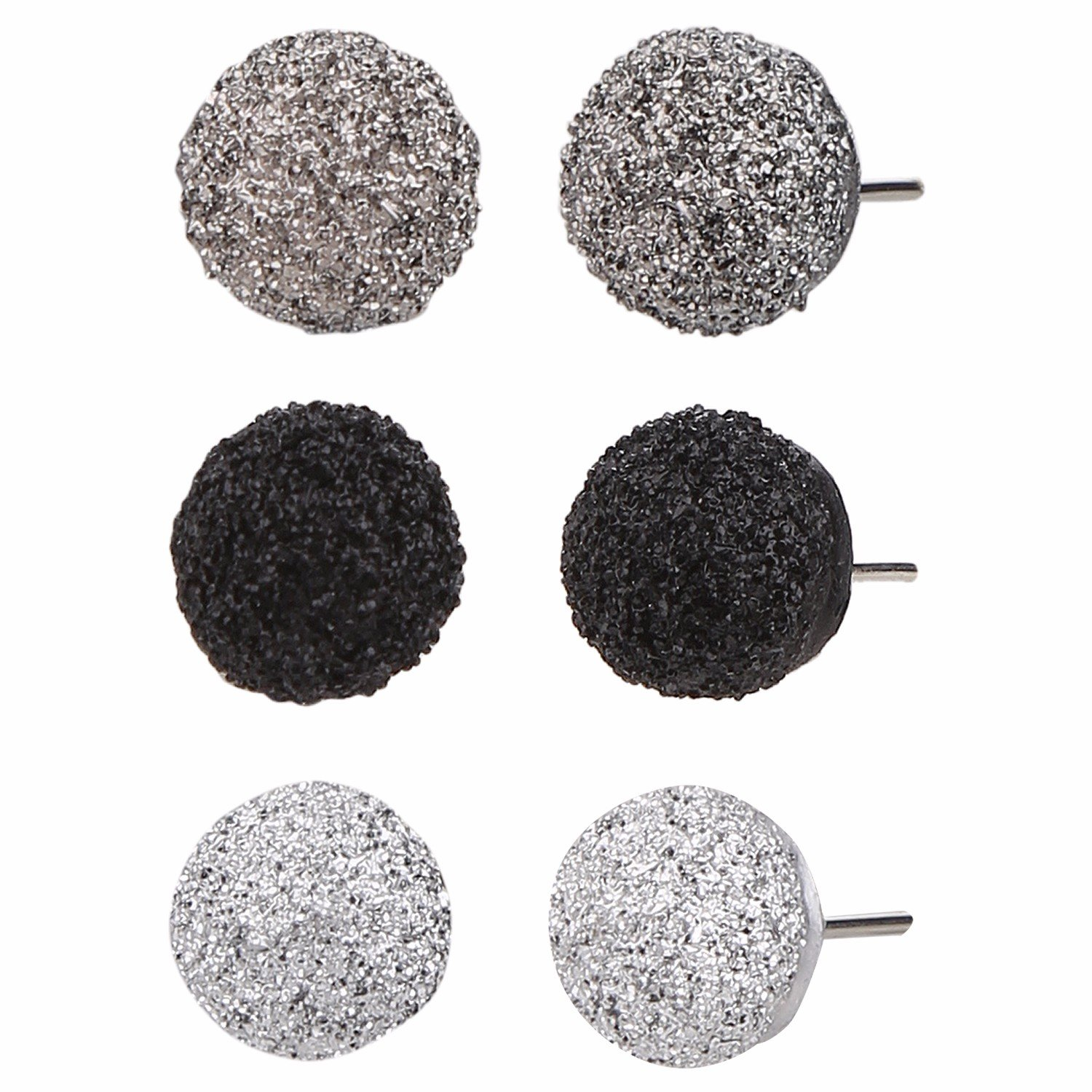 Efulgenz Combo of Indian Bollywood Geometric Stud Earrings for Girls and Women (Pack of 3) Jaipur Art Jewellery CMB26