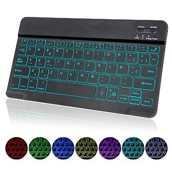 COO Teclado Inalámbrico Bluetooth, Teclado de Español (Incluye Letra Ñ) con 7 Colores Retroiluminado: Amazon.es: Electrónica