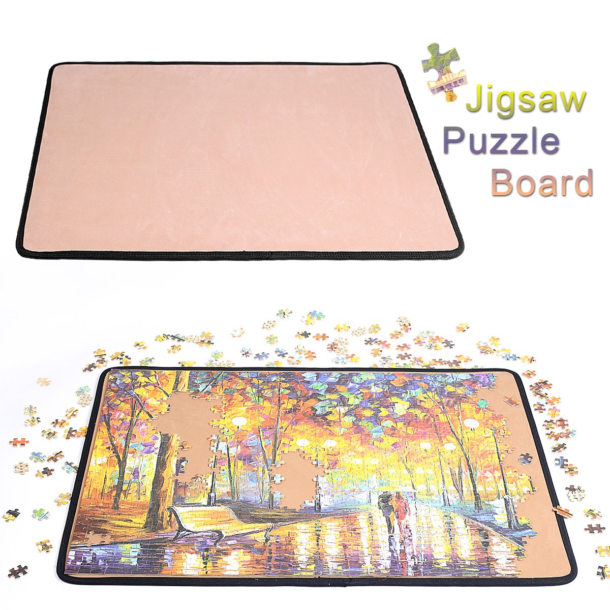 Jigsaw Puzzle Board Puzzle Mat- Ingooood Easy Move Storage Jigsaw Puzzle mat Work Separate Puzzle Board for up to 1,000 Pieces Durable jigboard by Ingooood