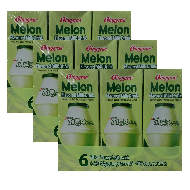 Binggrae Melon Flavored milk Drink (6.8 oz X 18)