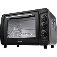 Sharp 35L 1500W Double Glass Electric Oven with Rotisserie & Convection, EO-35NK-3, Black