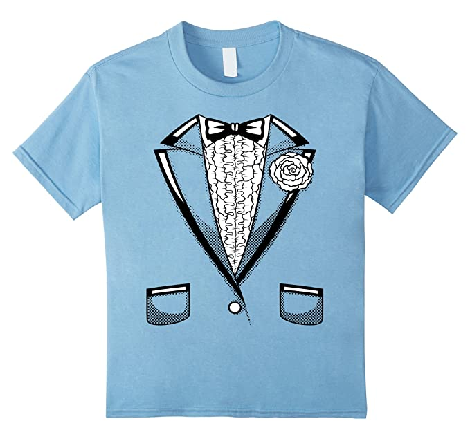Amazon.com: Kids Tuxedo T-Shirt | Boys Girls Halloween Prom Black ...
