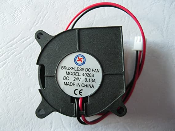 1 Pcs DC Blower Fan 12V 4020 2 Pin Black 40x20mm Brushless DC Cooling Blower Fan