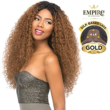06c69285d0952 Amazon.com   Sensationnel Synthetic Lace Front Wig Empress Edge 4X4 Swiss  Silk Based Kelly (T1B 30)   Beauty
