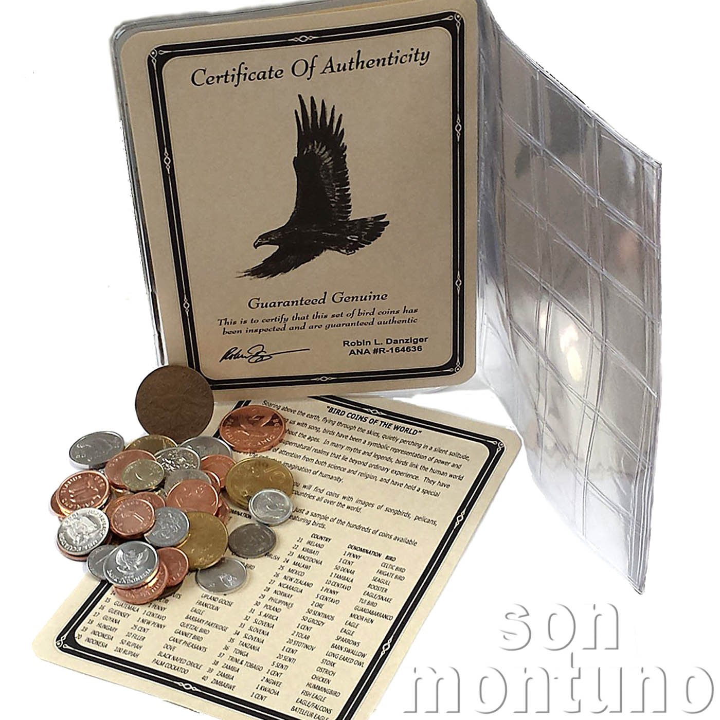 7c3f29efb62c BIRD COINS OF THE WORLD - Collection of 40 Coins with Certificate of ...
