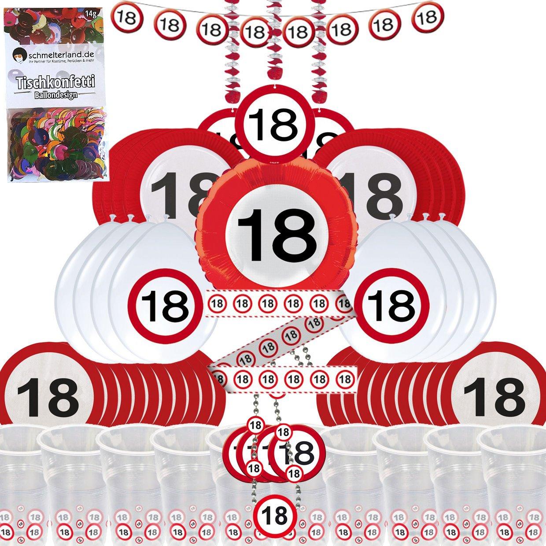 Paquete de fiesta con 58 piezas, decoración para cumpleaños ...