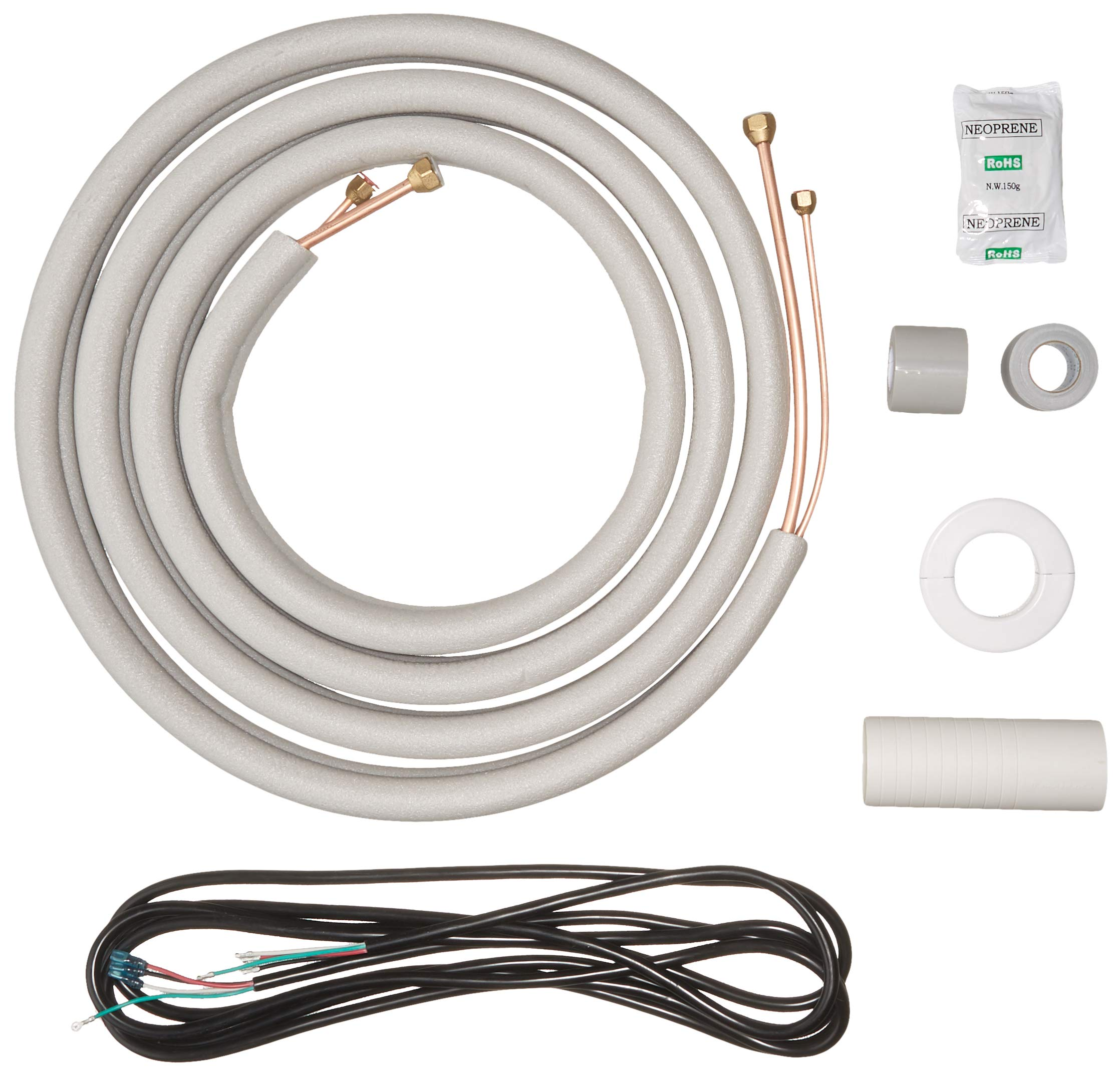 Senville 16 Ft. Copper Pipes for Mini Split Air Conditioner 1/4'' & 3/8'' OD White by Senville