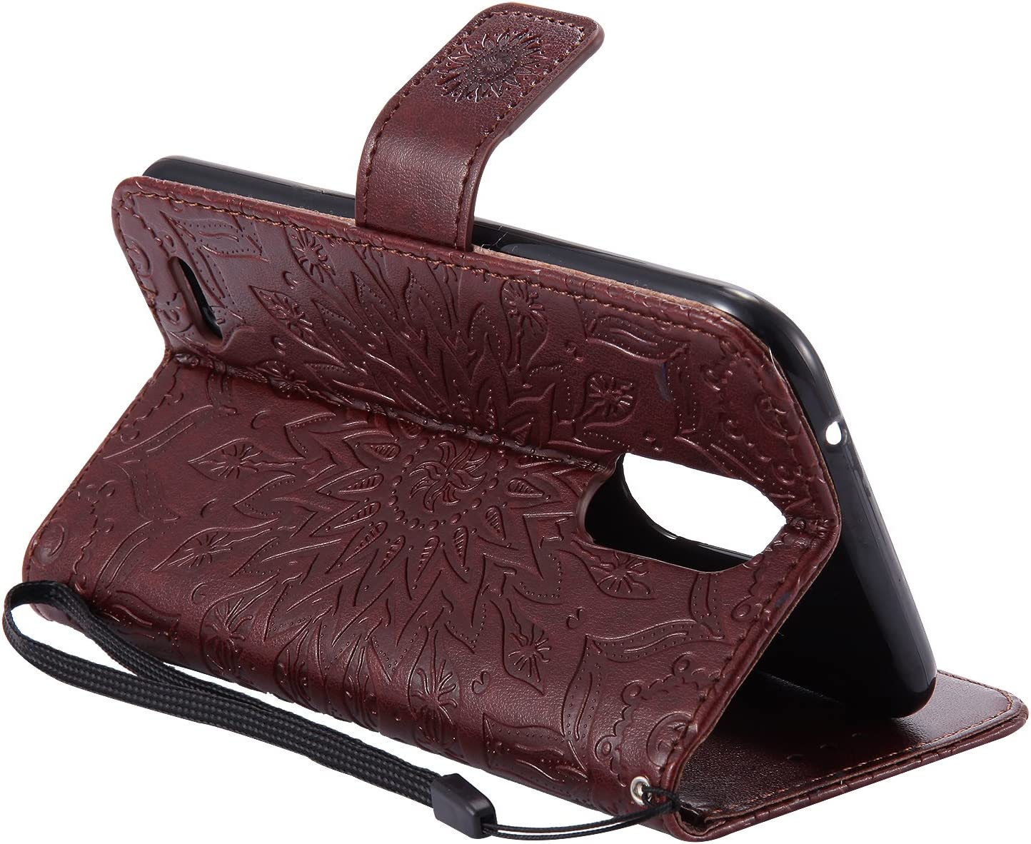 Handy H/ülle Leder Klappbar Brieftasche Schutzh/ülle mit Kartenfach Magnetisch Sto/ßfest Handyh/ülle Flip Case f/ür LG K10 - DOKTU40680 Gr/ün Docrax LG K10 2017//M250N Lederh/ülle 2017