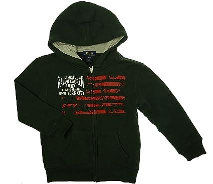 dfaa228cf Amazon.com: Ralph Lauren Polo Boys Flag Full Zip Hoodie: Clothing